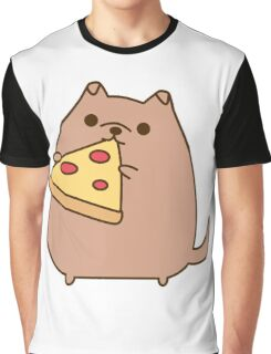 Pupsheen Eating Pizza Graphic T-Shirt