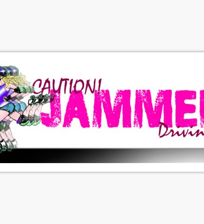 Caution! Jammer Driving! Car bumper sticker. Sticker