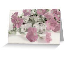 Petunias And Perfume - Soft Greeting Card