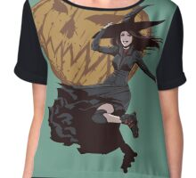 rollerblading witch! Chiffon Top