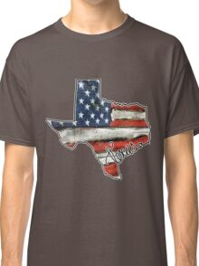 Texas State Outline Flag USA Classic T-Shirt