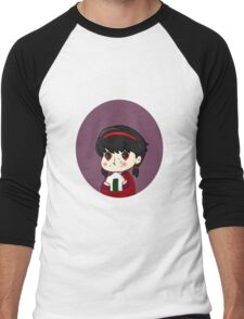 Babu Hattori eating a rice ball Men's Baseball ¾ T-Shirt