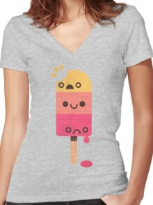 Three Flavours Women's Fitted V-Neck T-Shirt