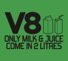 V8 - Only milk & juice come in 2 litres (2) One Piece - Short Sleeve