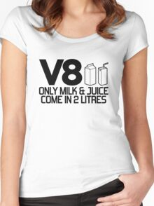 V8 - Only milk & juice come in 2 litres (2) Women's Fitted Scoop T-Shirt