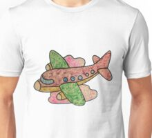 Plane among the clouds Unisex T-Shirt