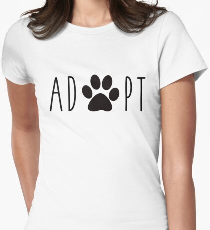 Adopt Dogs Womens Fitted T-Shirt