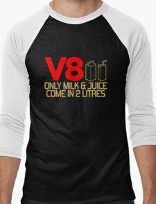 V8 - Only milk & juice come in 2 litres (3) Men's Baseball ¾ T-Shirt
