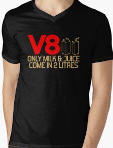 V8 - Only milk & juice come in 2 litres (3) Mens V-Neck T-Shirt