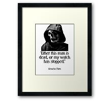 Either this man is dead... Groucho Marx Framed Print