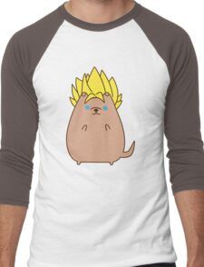 Super Sayian Pupsheen Men's Baseball ¾ T-Shirt
