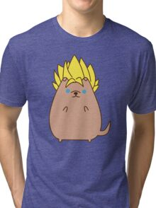 Super Sayian Pupsheen Tri-blend T-Shirt