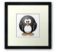 Penguin, Cartoon, Framed Print