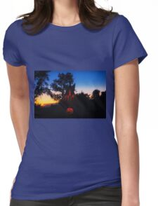 My Tipi At Sunset Womens Fitted T-Shirt