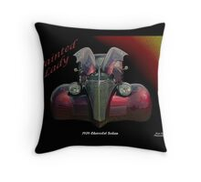 Painted Lady - 1939 Chevrolet Sedan Throw Pillow