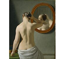 Eckersberg Morgentoilette Woman Standing in Front of a Mirror Photographic Print