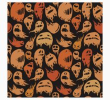 Black and orange ghosts pattern Kids Clothes