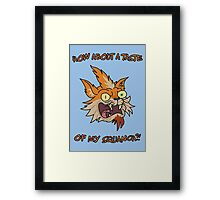 Rick and Morty – How About a Taste of My Squanch?! Framed Print