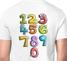 NUMBERS, Counting, Count, Cartoon, Learning to count Unisex T-Shirt