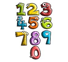NUMBERS, Counting, Count, Cartoon, Learning to count Photographic Print