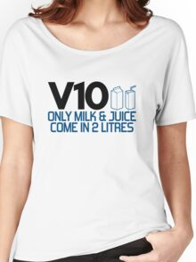 V10 - Only milk & juice come in 2 litres (4) Women's Relaxed Fit T-Shirt