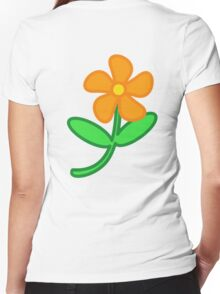 FLOWER, Cartoon,  Women's Fitted V-Neck T-Shirt