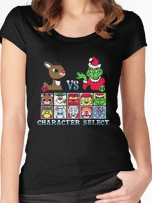 Christmas Fighter Women's Fitted Scoop T-Shirt