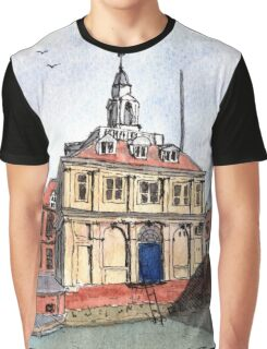 Kings Lynn Customs House - Watercolour Graphic T-Shirt