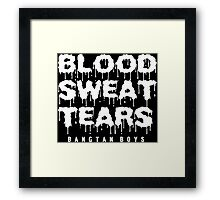 blood sweat tears BTS Framed Print