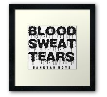 BTS blood sweat tears Framed Print