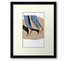 Orange shoes Framed Print