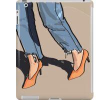 Orange shoes iPad Case/Skin