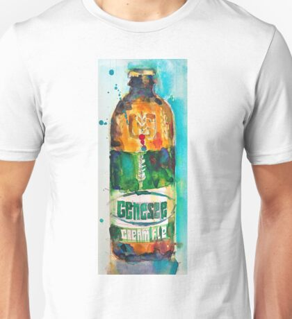 Genesee Cream Ale Beer Art Print - Original Watercolor  Unisex T-Shirt