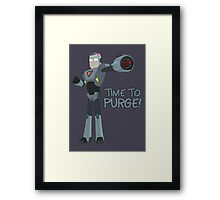 Rick and Morty – Time to Purge! Framed Print