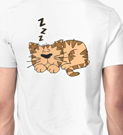 Cat, Sleeping, Cartoon, ZZZ, Unisex T-Shirt