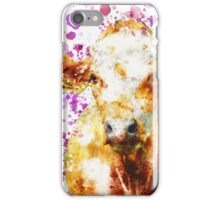 Watercolor Cow Design, Love Cows, Cow Art iPhone Case/Skin