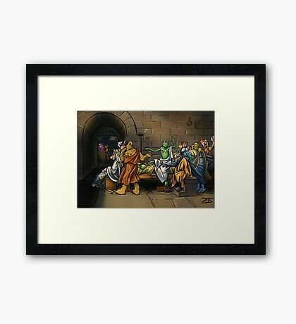 Muppet Death of Socrates Framed Print
