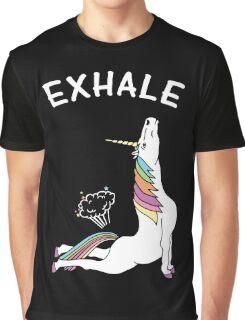 Yoga Unicorn - Exhale Graphic T-Shirt