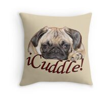 iCuddle Pug Puppy Throw Pillow