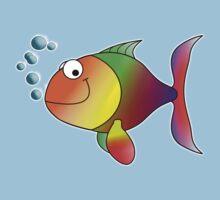 TROPICAL FISH, Rainbow, Cartoon Kids Tee