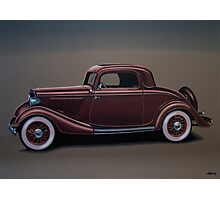 Ford 3 Window Coupe Painting Photographic Print