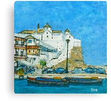The White Church, Skopelos Canvas Print