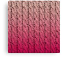 Flamingo Sunset Chunky Knit Canvas Print