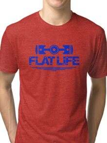 Flat Life (3) Tri-blend T-Shirt