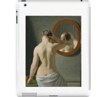 Eckersberg Morgentoilette Woman Standing in Front of a Mirror iPad Case/Skin