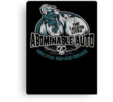 Abominable Auto Canvas Print