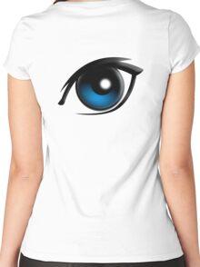 EYE, Blue eyes, Cartoon Women's Fitted Scoop T-Shirt