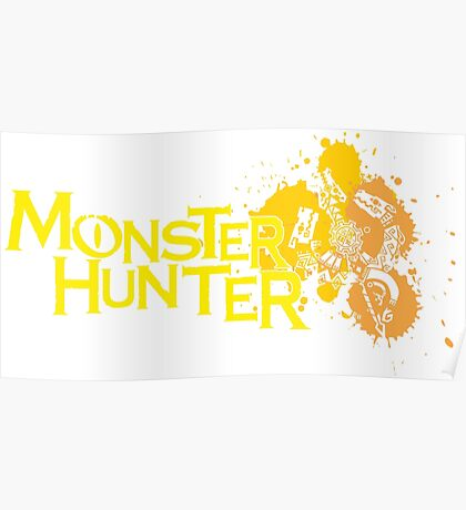 Monster Hunter Tri Crest Yellow Poster