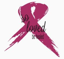 So Loved Be Healed Breast Cancer Awareness One Piece - Long Sleeve
