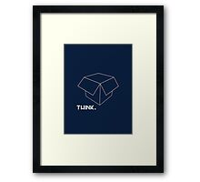 Think Outside of The Box Framed Print